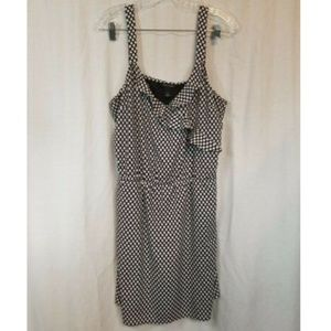 White House Black Market Polka Dot Sheath Dress L